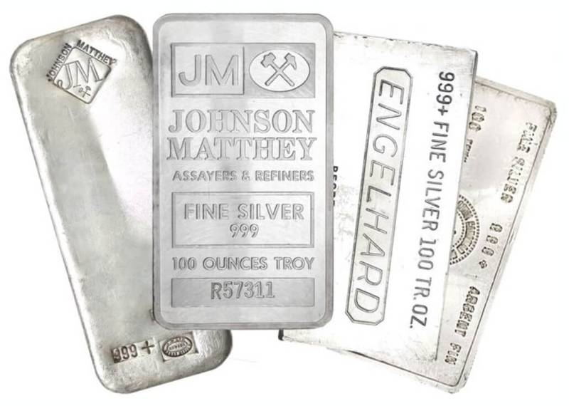 A collection of silver bars